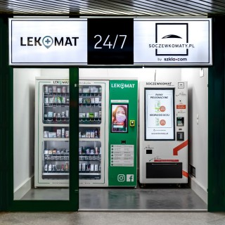 Contact lenses vending machine in Złote Tarasy in Warsaw and at the Central Station!